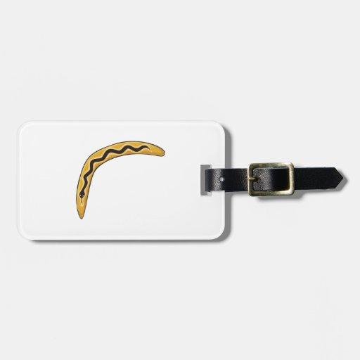 Custom Wooden Australia Aboriginal Boomerang Mugs Bag Tag