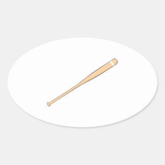 Custom Wooden Baseball Softball Bat Invitations Oval Sticker