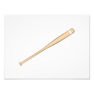 Custom Wooden Baseball Softball Bat Invitations Photo Art