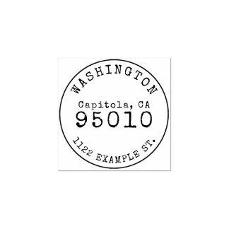 Custom Wooden Vintage Family Name Return Address Rubber Stamp