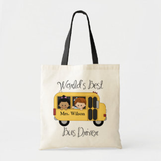 Custom Worlds Best Bus Driver Tote Bag