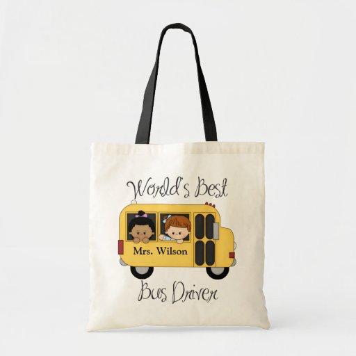 Custom Worlds Best Bus Driver Tote Bag
