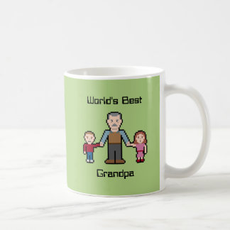 Custom World's Best Grandpa Basic White Mug