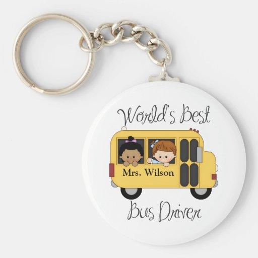 Custom Worlds Best School Bus Driver Keychains