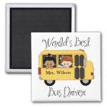 Custom Worlds Best School Bus Driver Refrigerator Magnet