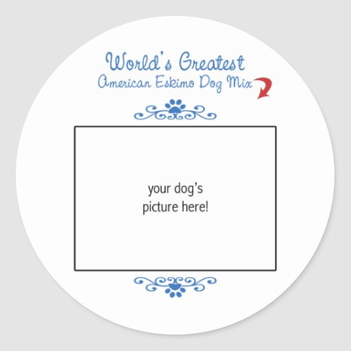 Custom Worlds Greatest American Eskimo Dog Mix Stickers