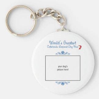 Custom Worlds Greatest Catahoula Leopard Dog Mix Basic Round Button Key Ring