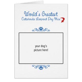 Custom Worlds Greatest Catahoula Leopard Dog Mix Greeting Card