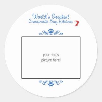 Custom Worlds Greatest Chesapeake Bay Retriever Round Sticker