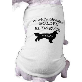 Custom Worlds Greatest Golden Retriever Shirt