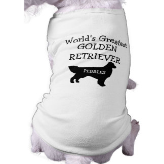 Custom Worlds Greatest Golden Retriever Sleeveless Dog Shirt