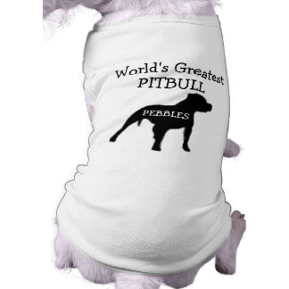 Custom Worlds Greatest Pitbull Sleeveless Dog Shirt