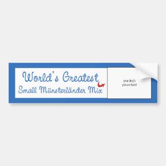 Custom Worlds Greatest Small Münsterländer Mix Bumper Sticker