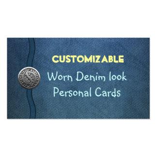CUSTOM worn denim look Personal & Business cards