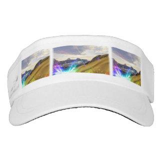 custom woven visor, white visor