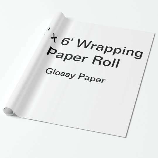 Glossy Wrapping Paper, 30 in x 6 ft