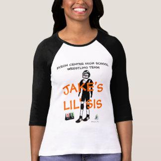 Custom Wrestling Little Sister Cartoon T-Shirt