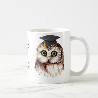 Custom Year Graduation Fun Wise Owl Coffee Mugs