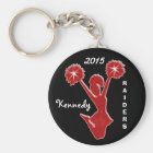 Custom YEAR, NAME and TEAM Cheap Cheer Keychains