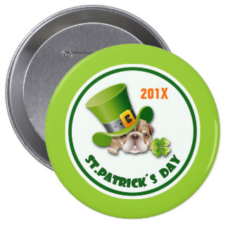 Custom Year St Patrick s Day Gift Buttons Pinback Button