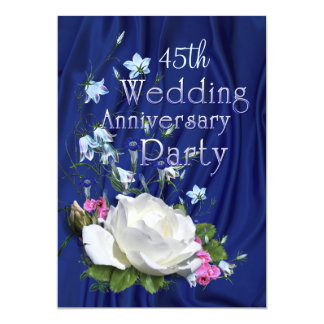 Custom Year White Rose Anniversary Party 13 Cm X 18 Cm Invitation Card