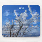 Custom Yearly Calendar 2018 Mouse Pads Winter