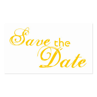 Custom yellow letter save the date wedding cards business card template