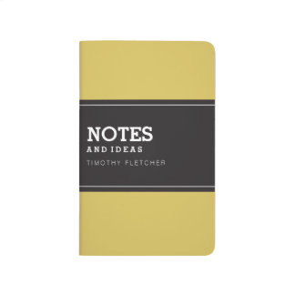 Custom Yellow Notebook