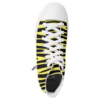 Custom yellow printed High tops converse Sneakers