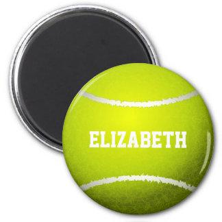 Custom Yellow Tennis Ball 6 Cm Round Magnet