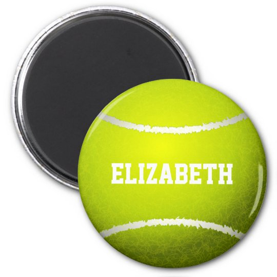 Custom Yellow Tennis Ball Magnet