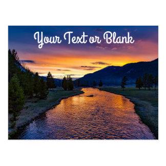 Custom Yellowstone National Park Wyoming at Sunset Postcard