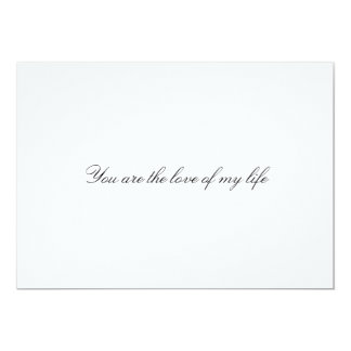 "Custom ""You are the love of my life"" wedding Card"