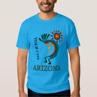 Custom Your City Arizona Kokopelli with Sun Tshirt