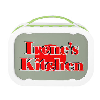 Custom Yubo Lunchbox with Irene's Kitchen Logo