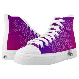 Custom Zips High Tops Printed Shoes