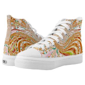 Custom Zipz  High Top Shoe, Sun Kissed Mirage Printed Shoes