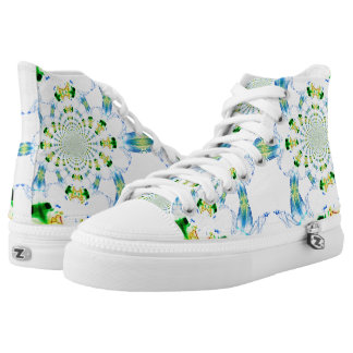 Custom Zipz High Top Shoes, Abstract Dream Catcher Printed Shoes