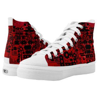 Custom Zipz High Top Shoes Printed Shoes