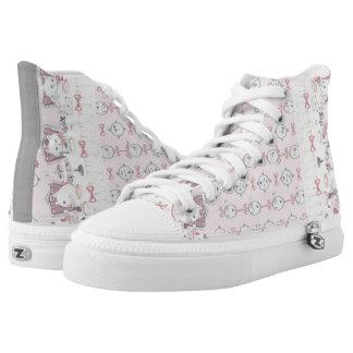 Custom Zipz High Top Shoes, US Men 4 / US Women 6 Printed Shoes