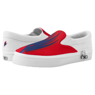 Custom Zipz Sneakers, Size 4 American of hombr Slip On Shoes