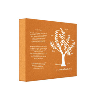 CustomChristianGifts - 23rd Ps. Family Tree Print Canvas Print