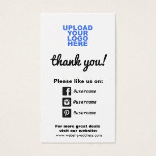customer appreciation social media icons business card - Social Media Icons For Business Cards
