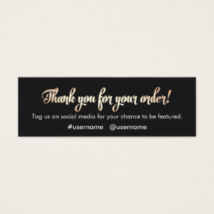 Thank you business cards business card printing zazzle uk customer appreciation thank you for your order colourmoves