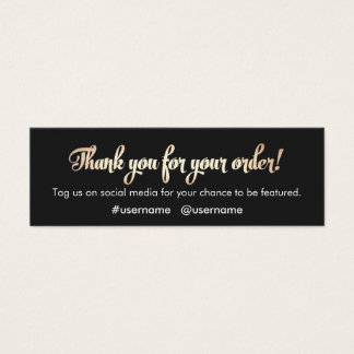 Customer Appreciation Thank You for Your Order Mini Business Card