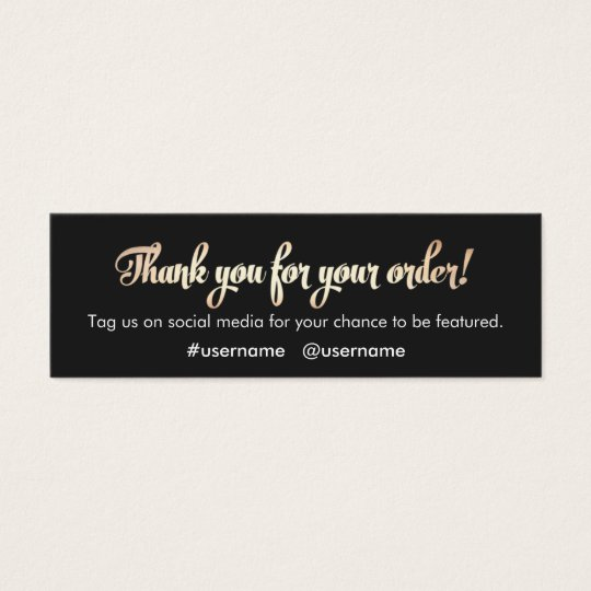 Customer Appreciation Thank You for Your Order Mini