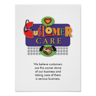 """Customer Care"" Poster"