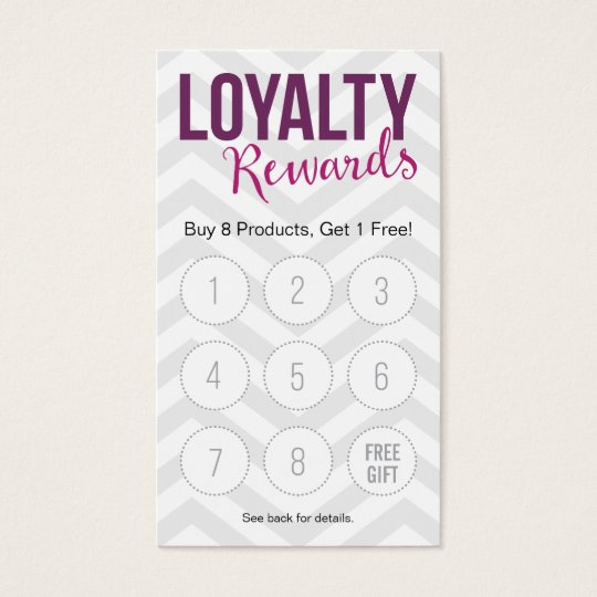 Customer Loyalty Rewards Business Cards
