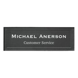 Customer Service Employees Elegant Dark Black Look Name Tag