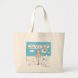 Customer Service In Heaven Funny Cards Mugs Gifts Jumbo Tote Bag